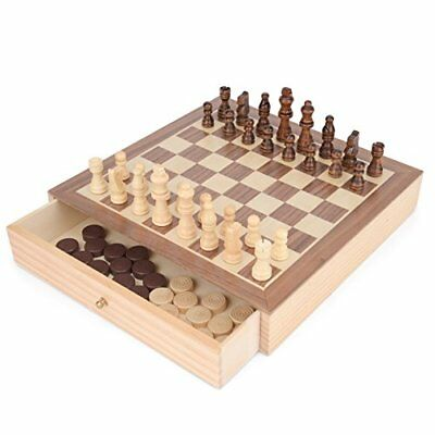 Toyrific Chess and Draughts 2-in-1 Game Board Set