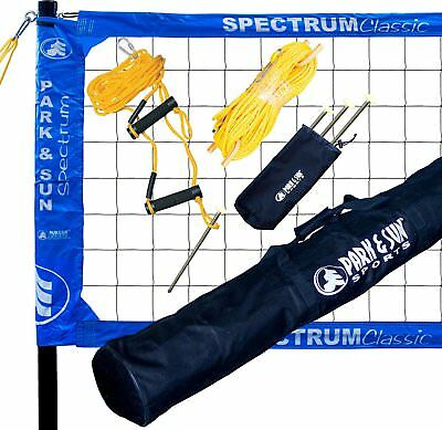 Portable Professional Outdoor Volleyball Nylon Net With Polyester Sport Bag New