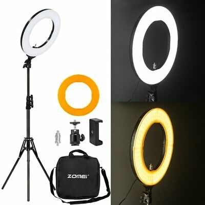 """ZOMEI 14"""" LED Photography Ring Light Dimmable 5500K Lighting for Camera Youtube"""