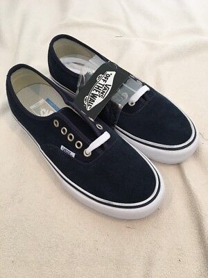 32afeeb239250b New Vans Authentic Pro Suede Dress Blues Navy True White Skate Shoe Men  Size 7