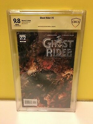 CGC Graded 9.8 Ghost Rider #5 Signed By Clayton Crain Marvel Comics (2006)