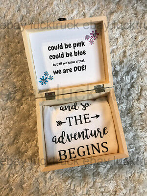 Pregnancy Reveal Surprise Announcement Baby Due Custom Box Photography Instagram