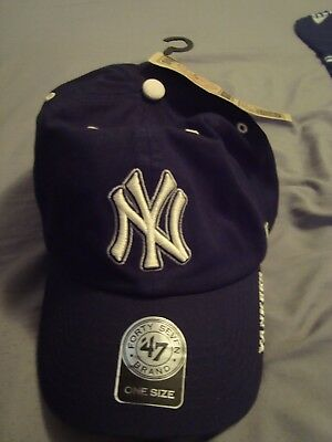 94dda0621ab ... new arrivals new york yankees 47 brand navy blue clean up adjustable  mens one size dad