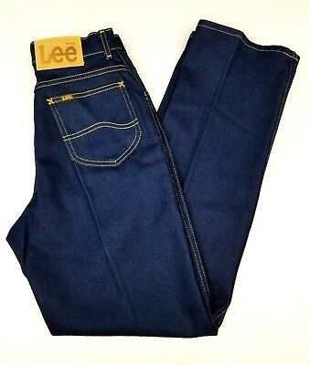 Vintage Lee Jeans Womens Dark High Waisted Classic Sz 12 P Jeans RN:34783