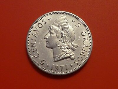 Dominican Republic 5 Centavos, 1971, Native Princes, Low mint, UNC,