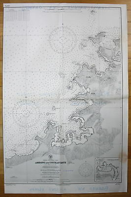 1940 China Sea Borneo Northwest Coast Ambong and Usukan Bays Malaysia map