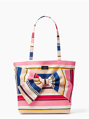 Kate Spade New York - On Purpose Canvas Tote Bag - Berber Stripe - NEW WITH
