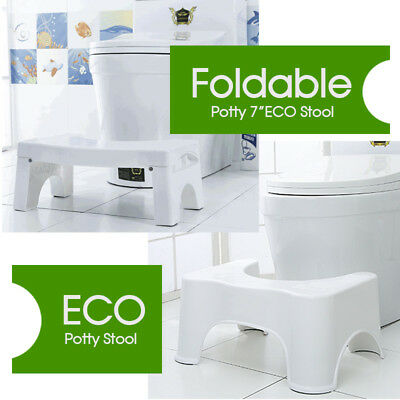 8.5'' Sit and Squat Potty Stool Portable Squatty ECO Healthy Colon White Toilet