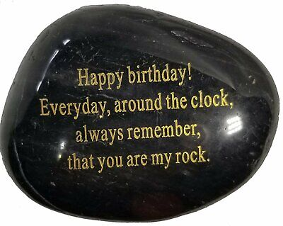Adult Birthday Gift Engraved Rock