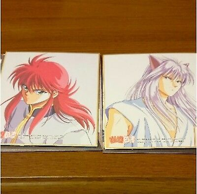 Yu Yu Hakusho Kurama cel Mini Illustration Board Card Set of 2 Manga Anime art
