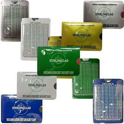 10 RfID Blocking Credit Card Sleeves with TipTable - Stop Radio Frequency ID Thi