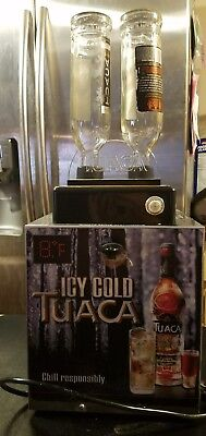 THERMO TUACA REFRIGERATED BEVERAGE LIQUOR CHILLER DISPENSER W/ 2 Empty Bottles