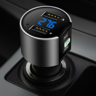 Bluetooth Car FM-Transmitter Wireless Radio-Adapter Mp3 Player USB Charger-New