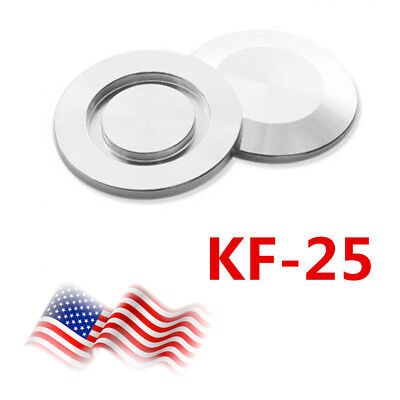 2pcs  KF-25 Blank Flange, Blind Flange Cap, Vacuum Fitting,Stainless Steel USA