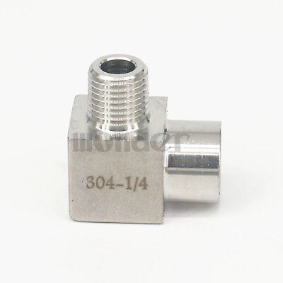 """1/4"""" BSP Female To Male Elbow 90 Deg 304 Stainless Steel Pipe Fitting Connector"""