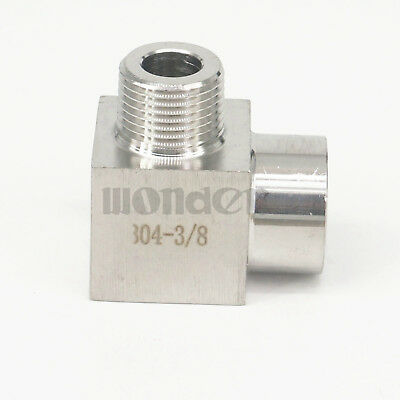 """3/8"""" BSP Female To Male Elbow 90 Deg 304 Stainless Steel Pipe Fitting Connector"""