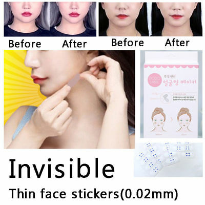 40pcs Thin Face Sticker Face Lift Tools Chin Makeup Invisible V Shape Face Label