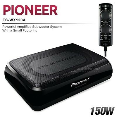 "New PIONEER TS-WX120A 150W 8"" Compact Built In Amplifier Active Car Subwoofer"