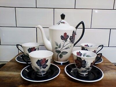 Royal Albert Masquerade Coffee Pot & Coffee Cup Saucer Duo Set