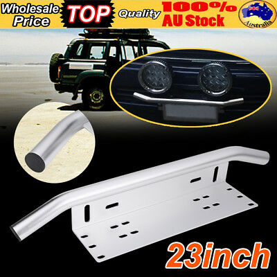 23'' Bull Bar Front Bumper License Plate Mount Bracket LED Work Light Bar Holder