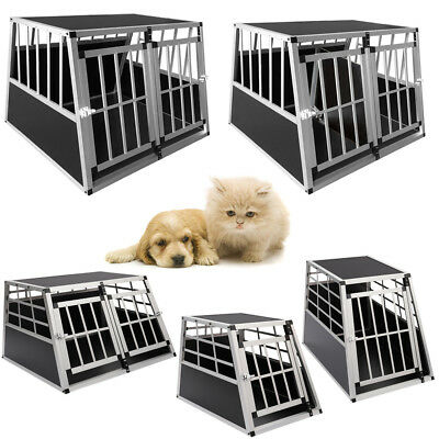 XL Runner Secure Aluminum Dog Pet Travel/Car Crate Puppy Cage Kennel Carrier BOX