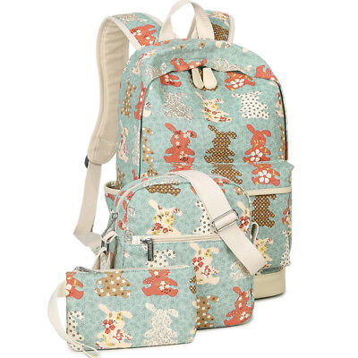 Lightweight Canvas Backpacks Bookbag Shoulder Bag School Backpack for Teen-US