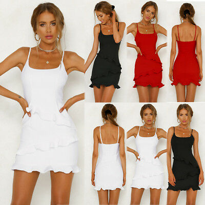 ff881899cd55 Women Sexy Summer Strappy Bodycon Evening Party Cocktail Casual Short Mini  Dress