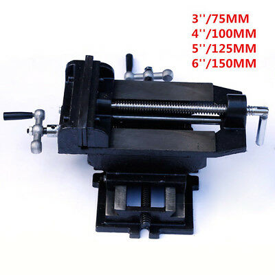 2 Way Cross Slide Vise Drill Press X-Y Compound Clamp Metal Milling Machine Tool