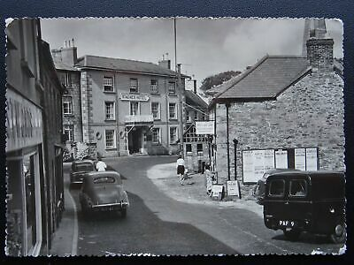 Cornwall ST. AGNES Churchtown showing St. Agnes Hotel c1960's RP Postcard