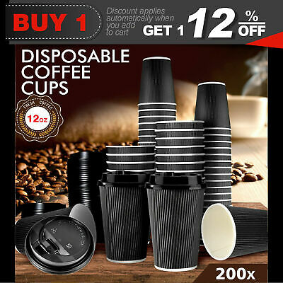 Disposable Coffee Cups 12oz Takeaway Paper Triple Wall Take Away Bulk