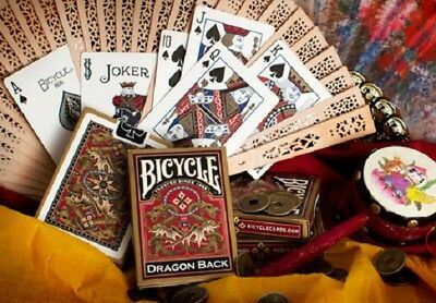 1 deck Bicycle Dragon GOLD Playing Cards By Gamblers Warehouse S1032242415-5