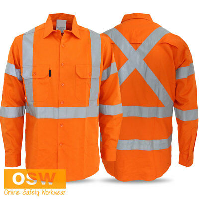 Hi Vis Orange Unisex Air Vents Cool-Breeze Bio-Motion Orange Nsw Rail Work Shirt