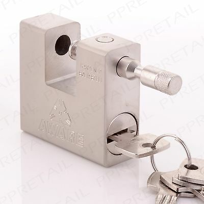 74mm HARDENED SOLID STEEL Shutter Padlock High Security Warehouse/Container Lock