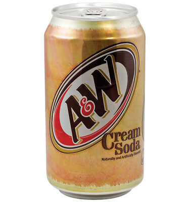 A&W Cream Soda Can 355ml x 12