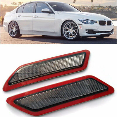 For 13-15 BMW F30 F31 3 Series Front Bumper Reflector Lights Side Marker 2pcs