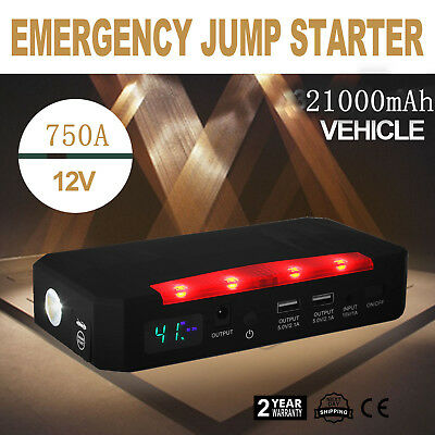 30000mAh Auto Car Mobile Jump Starter Charger Emergency Battery Power Bank