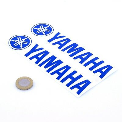 Yamaha Stickers Blue Decal Vinyl Motorbike 150mm x2 Motorcycle Tank Fairing