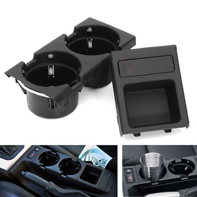Car Black Center Console Coin Tray Box+Cup Holder For BMW E46 3 Series 98-04 US