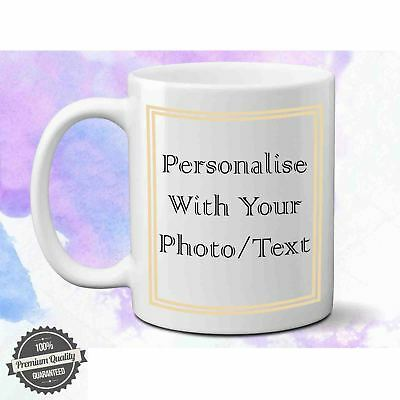 personalised custom print text your photo text printed tea coffee mug