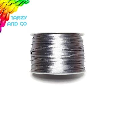 1mm Silver Satin Nylon Cord DIY Silicone Bead Was Teething Necklace Jewellery