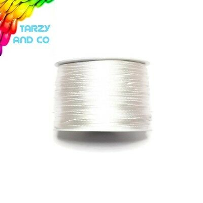 1mm White Satin Nylon Cord DIY Silicone Bead Was Teething Necklace Jewellery