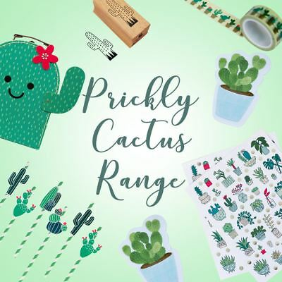 Cactus Themed Party Craft Stamps Bunting Washi Gifts Cacti Suitcases