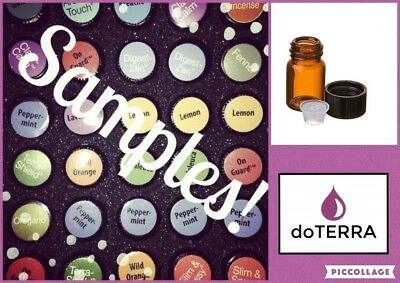 Doterra Sample Vial 2ml or 1ml  Essential Oils Aromatherapy **Pick Your Oil**