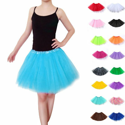 "/"" LONG LADIES GIRLS NEON TUTU SKIRT ADULT ALL SIZES  Ballet Pettiskirt NM 45cm"