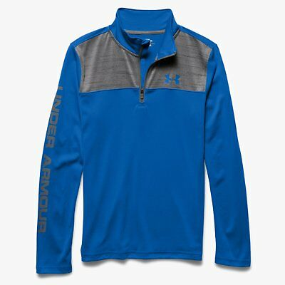 Under Armour UA Kid's Tech 1/4 Zip Top - Blue/Grey - (YMD) 9 -10 Years - New