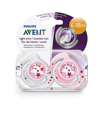 Philips AVENT SCF176/24 – Pacifier Night Glow in the Dark, Pack of 2, 6 to 18 m