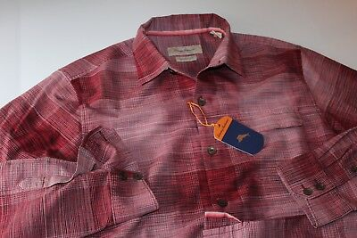 Tommy Bahama Shirt Safi Stripe Violet Dusk Silk Blend T317459 LS New Medium M