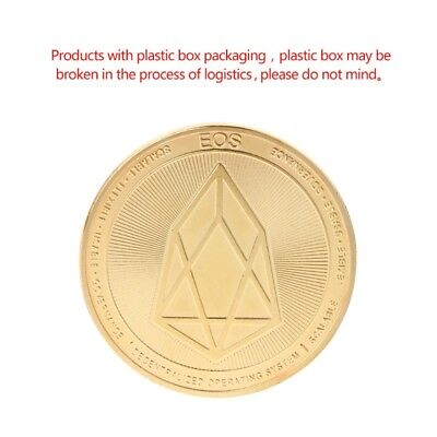 EOS Digital Currency Commemorative Coin Collection Souvenir Art Gift Golden