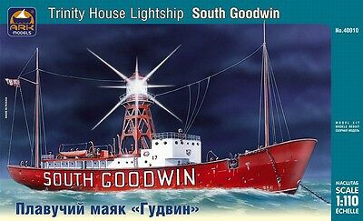 "1:110 ARK Model #40010  Trinity House lightship ""South Goodwin""  NEU / OVP !!!"
