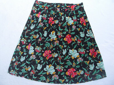 VINTAGE 1970s/80s PLEATED TROPICAL FLORAL PRINT SKIRT